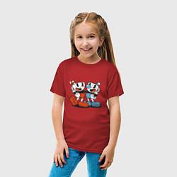 Футболка хлопковая детская Cuphead цвета красный — фото 2
