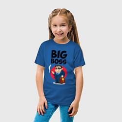 Футболка хлопковая детская Big Boss / Начальник цвета синий — фото 2