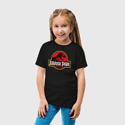 Футболка хлопковая детская Jurassic Park цвета черный — фото 2