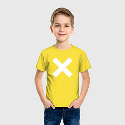 Футболка хлопковая детская The XX: White X цвета желтый — фото 2
