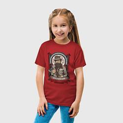 Футболка хлопковая детская Достоевский Федор Михайлович цвета красный — фото 2