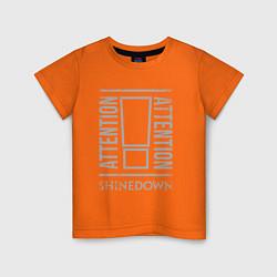 Футболка хлопковая детская Attention Shinedown цвета оранжевый — фото 1