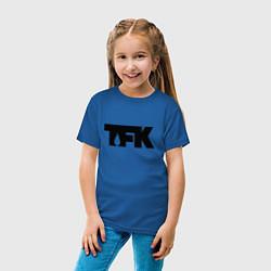 Футболка хлопковая детская TFK: Black Logo цвета синий — фото 2
