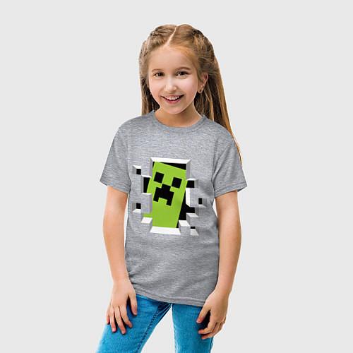 Детская футболка Crash Minecraft / Меланж – фото 4