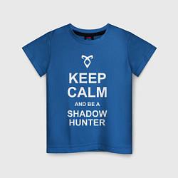 Футболка хлопковая детская Be a Shadowhunter цвета синий — фото 1