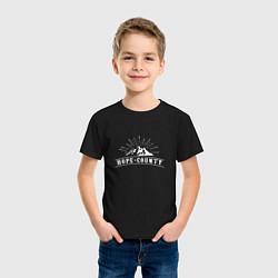 Футболка хлопковая детская Hope Count: Mountain цвета черный — фото 2