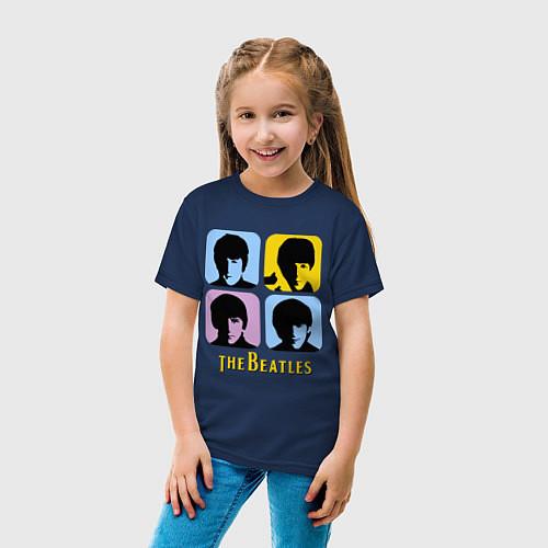 Детская футболка The Beatles: pop-art / Тёмно-синий – фото 4