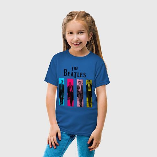Детская футболка Walking Beatles / Синий – фото 4