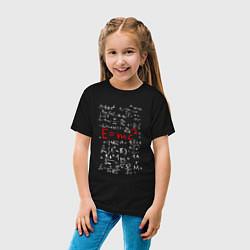 Футболка хлопковая детская E=mc2 цвета черный — фото 2