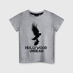 Футболка хлопковая детская Hollywood Undead цвета меланж — фото 1