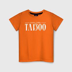 Футболка хлопковая детская Taboo: Denzel Curry цвета оранжевый — фото 1