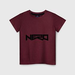 Футболка хлопковая детская Nero цвета меланж-бордовый — фото 1