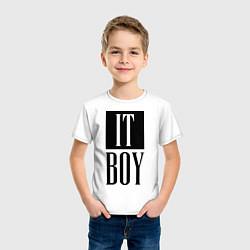 Футболка хлопковая детская It Boy цвета белый — фото 2