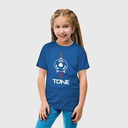 Футболка хлопковая детская TONE цвета синий — фото 2