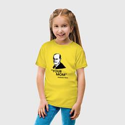 Футболка хлопковая детская Your Mom цвета желтый — фото 2
