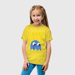 Футболка хлопковая детская Pac-Man: Game over цвета желтый — фото 2