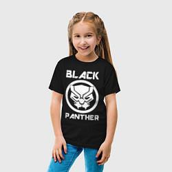 Футболка хлопковая детская Черная пантера цвета черный — фото 2