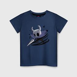 Футболка хлопковая детская Hollow Knight цвета тёмно-синий — фото 1