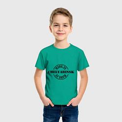Футболка хлопковая детская Made in Chelyabinsk цвета зеленый — фото 2