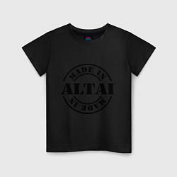 Футболка хлопковая детская Made in Altai цвета черный — фото 1