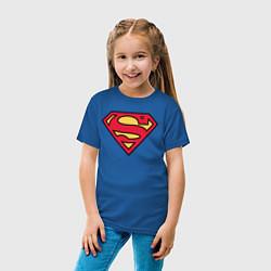 Футболка хлопковая детская Superman logo цвета синий — фото 2