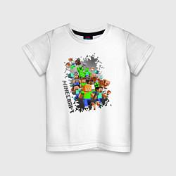 Футболка хлопковая детская Minecraft цвета белый — фото 1