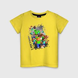 Футболка хлопковая детская Minecraft цвета желтый — фото 1