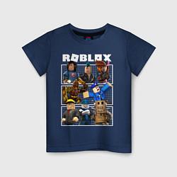 Футболка хлопковая детская ROBLOX цвета тёмно-синий — фото 1