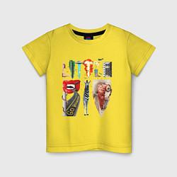 Футболка хлопковая детская Little Big цвета желтый — фото 1