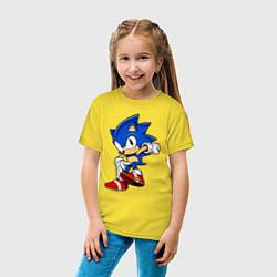 Футболка хлопковая детская SONIC цвета желтый — фото 2