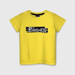Футболка хлопковая детская The Punisher цвета желтый — фото 1