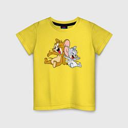 Футболка хлопковая детская Jerry & Tuffy цвета желтый — фото 1