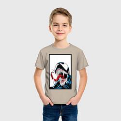 Футболка хлопковая детская Venom цвета миндальный — фото 2