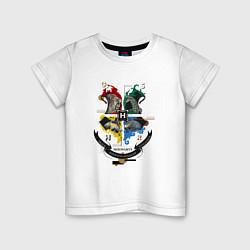 Футболка хлопковая детская Гарри Поттер цвета белый — фото 1