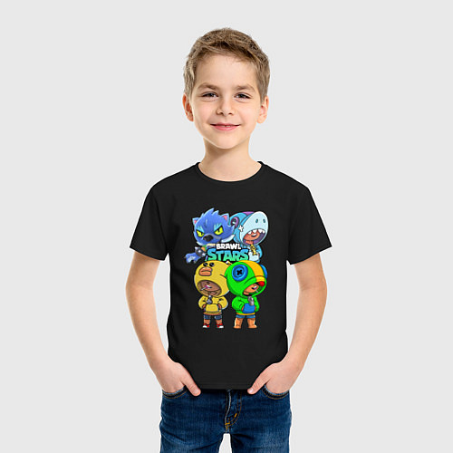 Детская футболка Brawl Stars Leon Quattro / Черный – фото 3
