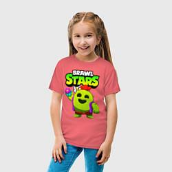 Футболка хлопковая детская BRAWL STARS SPIKE цвета коралловый — фото 2