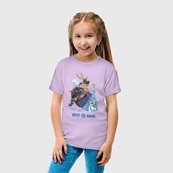 Футболка хлопковая детская Frozen: Best Band цвета лаванда — фото 2