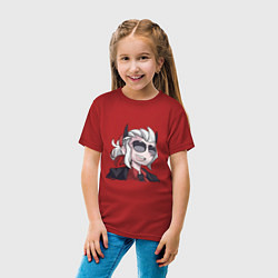 Футболка хлопковая детская Justice Helltaker Z цвета красный — фото 2