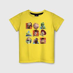 Футболка хлопковая детская Toy Story цвета желтый — фото 1