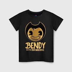 Футболка хлопковая детская Bendy And The Ink Machine цвета черный — фото 1