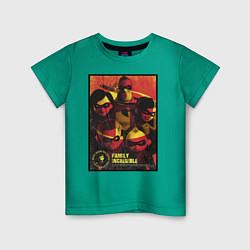 Футболка хлопковая детская The Incredibles цвета зеленый — фото 1