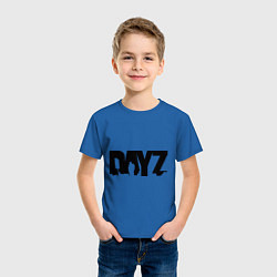 Футболка хлопковая детская DayZ цвета синий — фото 2