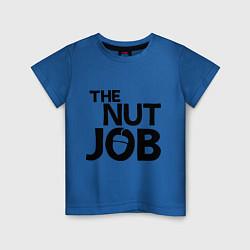 Футболка хлопковая детская The nut job цвета синий — фото 1