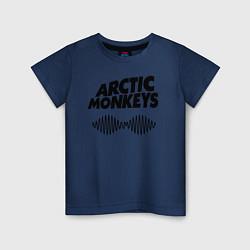 Футболка хлопковая детская Arctic Monkeys цвета тёмно-синий — фото 1