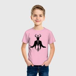 Футболка хлопковая детская True Detective: Faith цвета светло-розовый — фото 2