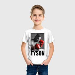 Футболка хлопковая детская Mike Tyson цвета белый — фото 2