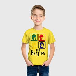 Футболка хлопковая детская The Beatles: Colors цвета желтый — фото 2
