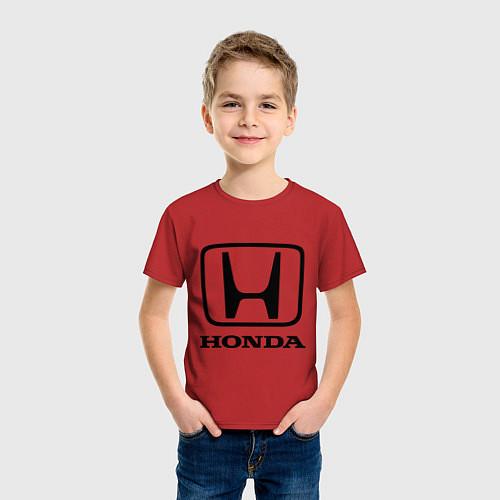 Детская футболка Honda logo / Красный – фото 3