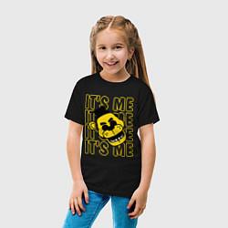 Футболка хлопковая детская It's me Freddy цвета черный — фото 2