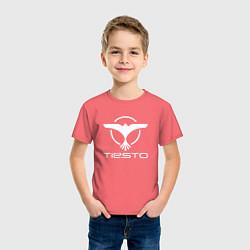 Футболка хлопковая детская Tiesto цвета коралловый — фото 2